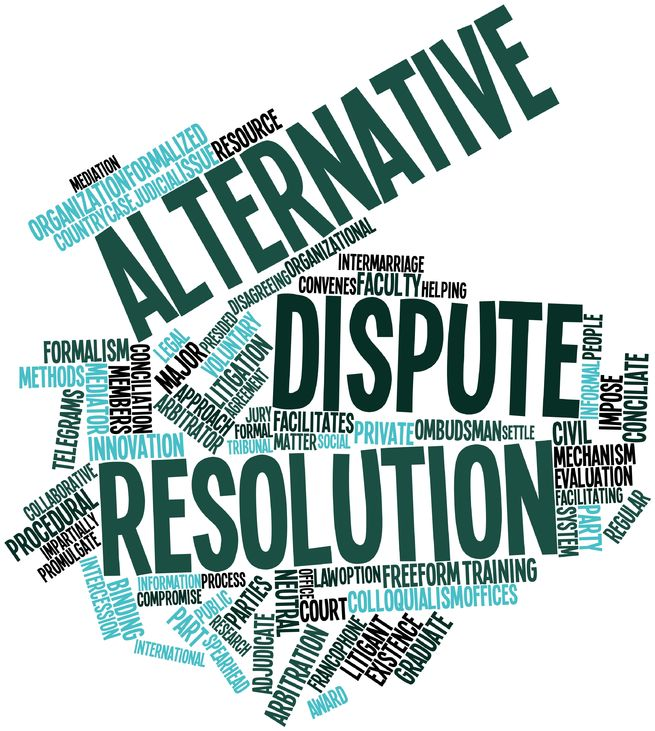 alternate disputes resolutions mediation and arbitration Settlement of disputes and appeals  overview of alternative dispute resolution currently selected  arbitration mediation is a process in which a neutral third.